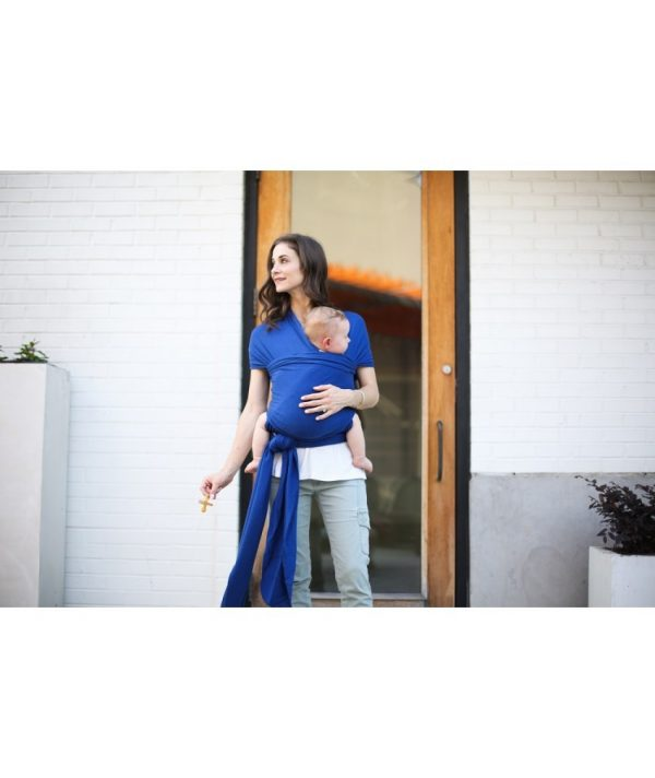 wrap elastic din bambus pentru purtarea bebelusilor boba dark blue