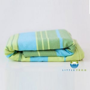wrap tesut little frog bamboo turquoise 42m