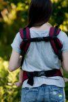 eng pl Little Frog Ergonomic Carrier Ruby Herringbone 6493 3