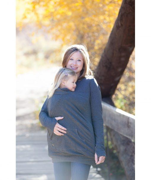 hanorac bluza cangur mama copil la piept vreme racoroasa 850x1008