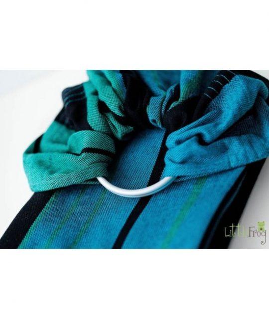 ring sling albastru turcoaz negru Chrysocolla sling reglabil cu inele bumbac lana merino 550x652