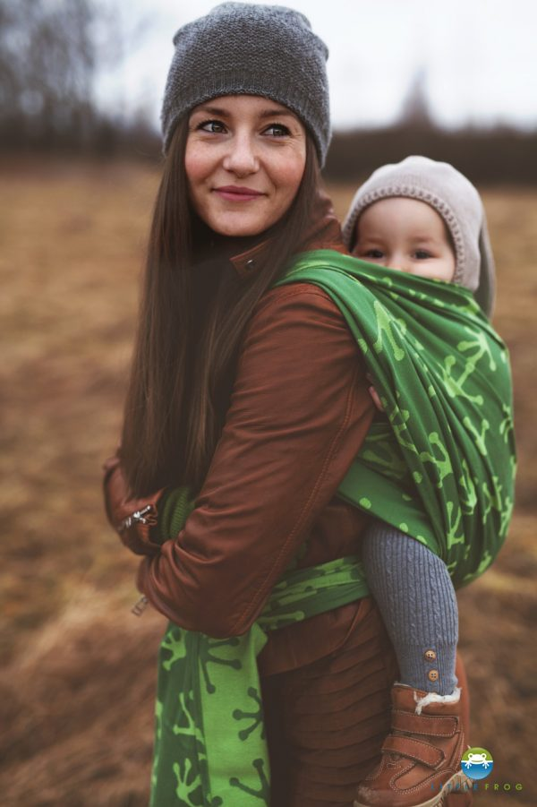 LITTLE FROG JACQUARD WRAP - KISS THE GREEN FROG