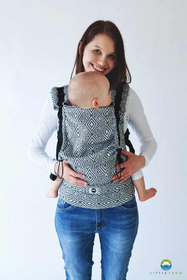 Little Frog Ergonomic Carrier Black Cube