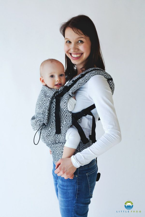 Little Frog Ergonomic Carrier Black Cube1