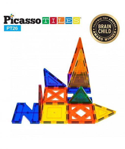 set magnetic de constructie picassotiles 26 piese magnetice joaca creativa imaginatie copii6 850x1008