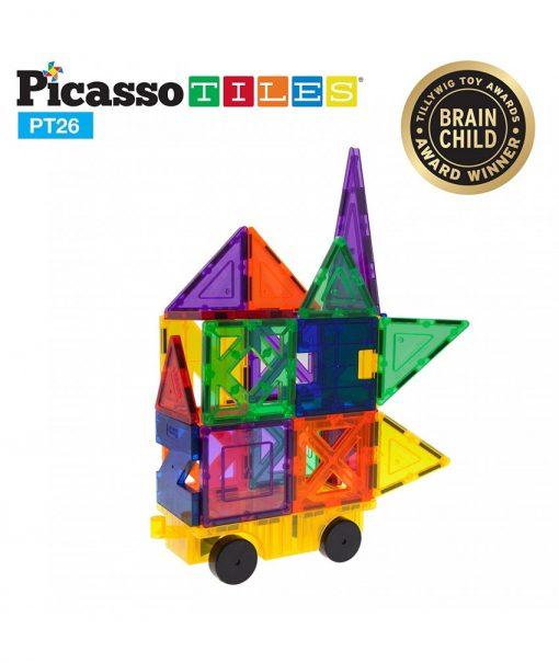 set magnetic de constructie picassotiles 26 piese magnetice joaca creativa imaginatie copii7 850x1008