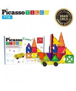 set magnetic de constructie picassotiles 26 piese magnetice joaca creativa imaginatie copii9 550x652