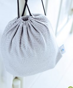 eng pl Carrier Bag Little Frog Grey Cube 3923 2