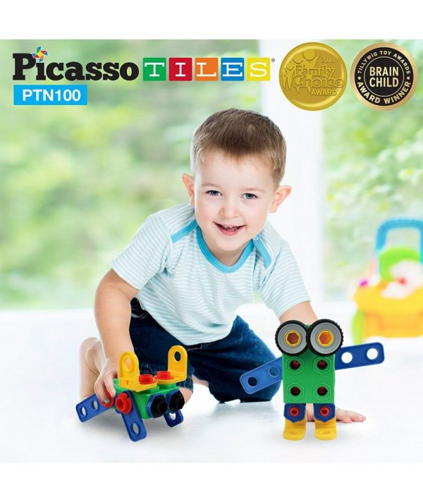 set picasso tiles 100 nuts and bolts constructie suruburi inginer10 850x1008