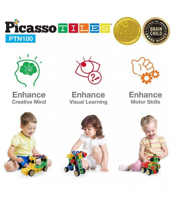 set picasso tiles 100 nuts and bolts constructie suruburi inginer5 850x1008
