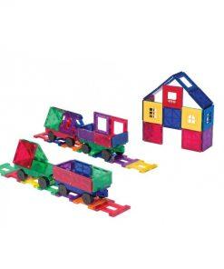 set piese magnetice playmags constructie copii joaca inteligenta 50 accesorii masini tren2 850x1008