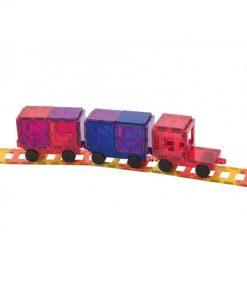 set piese magnetice playmags constructie copii joaca inteligenta 50 accesorii masini tren3 850x1008