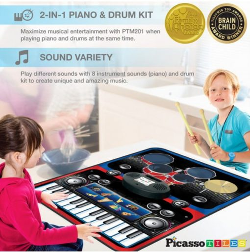 set pian tobe orga percutie covoras pliabil portabil flexibil picassotiles333