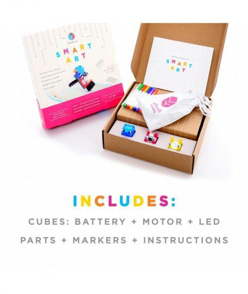 Jucarie Inteligenta Circuit Cubes Kit Arta 3