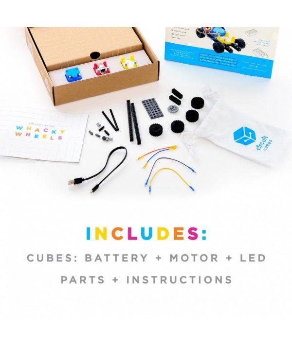Jucarie Inteligenta Circuit Cubes Kit Masina Whacky 1