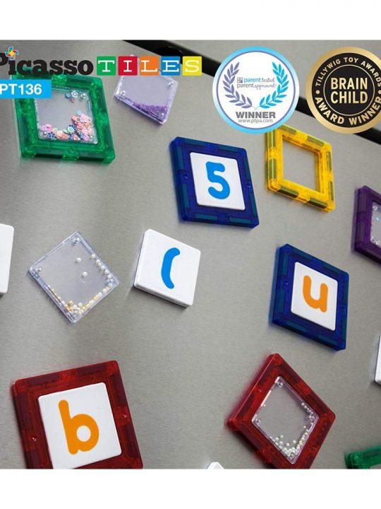 set magnetic constructie piese picasso tiles 136 combo clip 2
