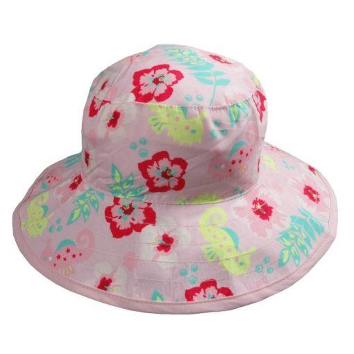 banz palarie protectie la soare reversibila upf50 pink floral