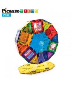 set magnetic constructie piese picasso tiles 62 ferris wheel 550x652