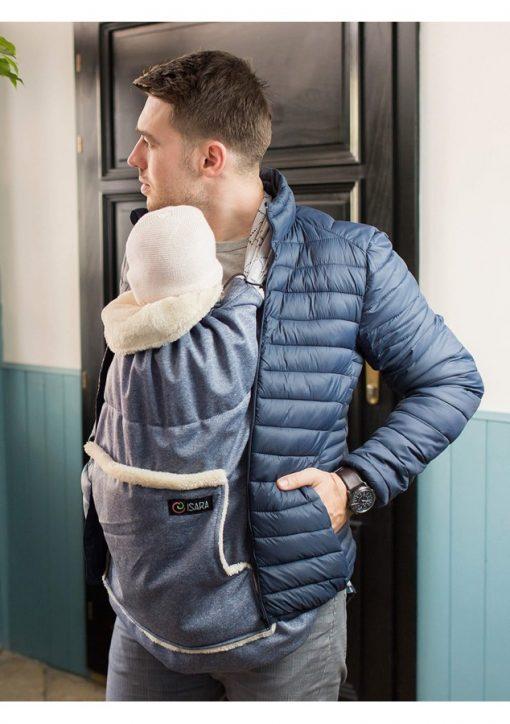 protectie de iarna timeless blue melange 2