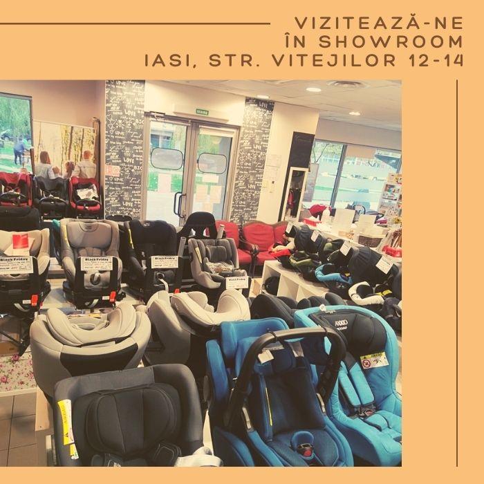 Showroom magazin scaune auto Iasi